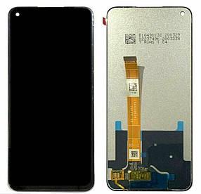 Дисплей (экран) для Oppo A92 с сенсором (тачскрином) черный Оригинал