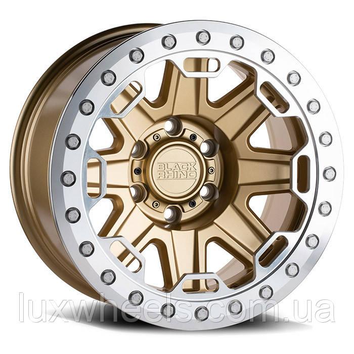 BLACK RHINO Rift Beadlock MATTE GOLD W/ MACHINED RING