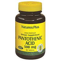 Пантотеновая Кислота (B5), Pantothenic Acid, 500 мг, Natures Plus, 90 таблеток