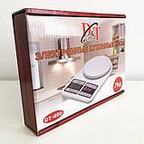 Весы кухонные электронные Domotec SF-400 с LCD дисплеем Белые до 10 кг, фото 4