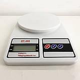Весы кухонные электронные Domotec SF-400 с LCD дисплеем Белые до 10 кг, фото 7