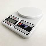 Весы кухонные электронные Domotec SF-400 с LCD дисплеем Белые до 10 кг, фото 8