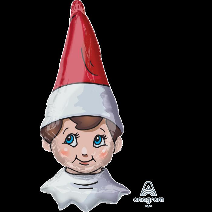 """А 38"""" The Elf on the Shelf. Шар фольгированный фигура Эльф, В УП"""