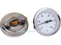 Термометр біметалічний з пружиною для кріплення на трубі