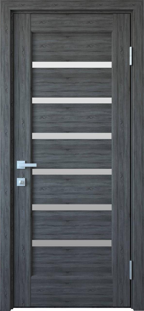 """Дверь межкомнатная """"Новый Стиль"""" модель Линнея, грей New (со стеклом)"""