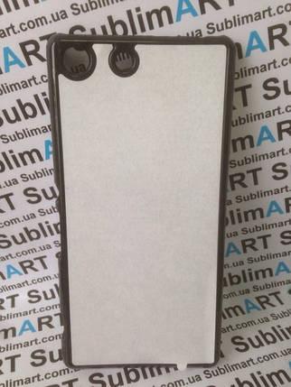 Чехол для 2D сублимации пластиковый на Sony Xperia M5 черный, фото 2