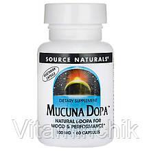 Мукуна Жгучая, Mucuna Dopa, Source Naturals, 60 капсул