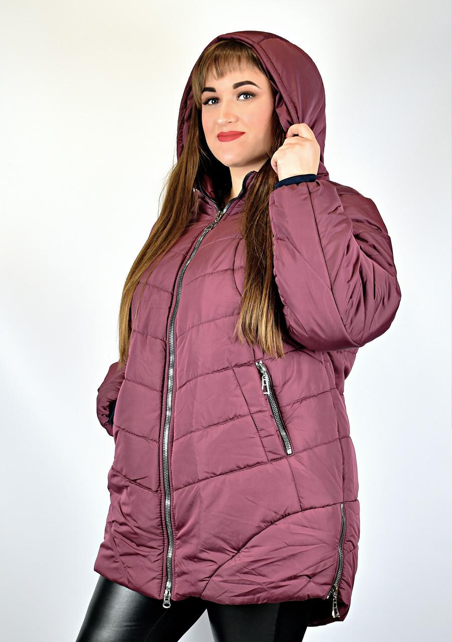 Куртка жіноча великі розміри від 66 до 70