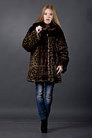 Шуба женская искусственный мех леопард, 46-56 р-р