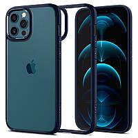 Чехол Spigen для iPhone 12/12 Pro - Ultra Hybrid, Navy Blue (ACS02251)