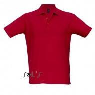 Мужская футболка-поло красного цвета летняя классическая