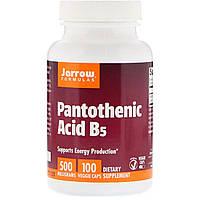 Пантотеновая Кислота (B5) Pantothenic Acid, Jarrow Formulas, 500 мг, 100 капсул