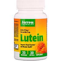 Лютеин, 20 мг, Lutein, Jarrow Formulas, 30 желатиновых капсул