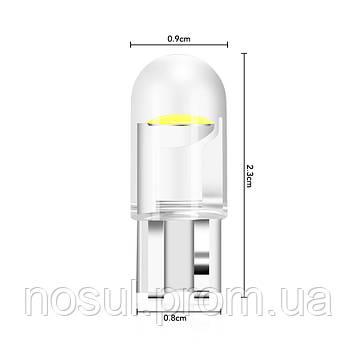 W5W T10 Led автомобильная светодиодная лампа цвет 6000К белый холодный Car Turn White
