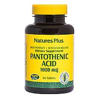 Пантотеновая Кислота (B5), 1000 мг, Natures Plus, 60 Таблеток