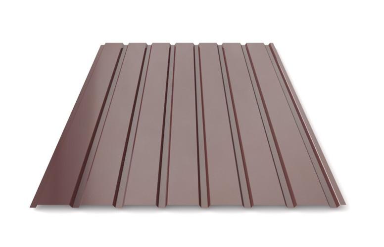 Профнастил для забору шоколад ПС-20, 0,30 мм; висота 2 метри ширина 1,16 м