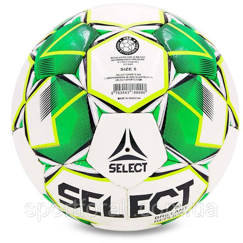 Мяч футбольный №4 PU ламин. ST BRILLANT REPLICA ST-8260 белый-зеленый