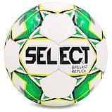 Мяч футбольный №4 PU ламин. ST BRILLANT REPLICA ST-8260 белый-зеленый, фото 2