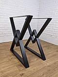 """Черные опоры """"Дельта"""" для кухонного стола из металла, фото 2"""