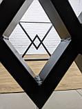 """Черные опоры """"Дельта"""" для кухонного стола из металла, фото 3"""