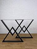 """Черные опоры """"Дельта"""" для кухонного стола из металла, фото 6"""
