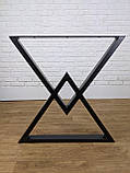 """Черные опоры """"Дельта"""" для кухонного стола из металла, фото 7"""