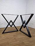 """Черные опоры """"Дельта"""" для кухонного стола из металла, фото 5"""