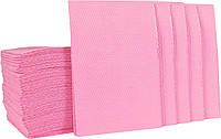 Салфетки стоматологические медицинские нагрудные (500шт) Розовые