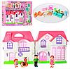 Ігровий набір для дівчаток «Ляльковий будиночок з ляльками».