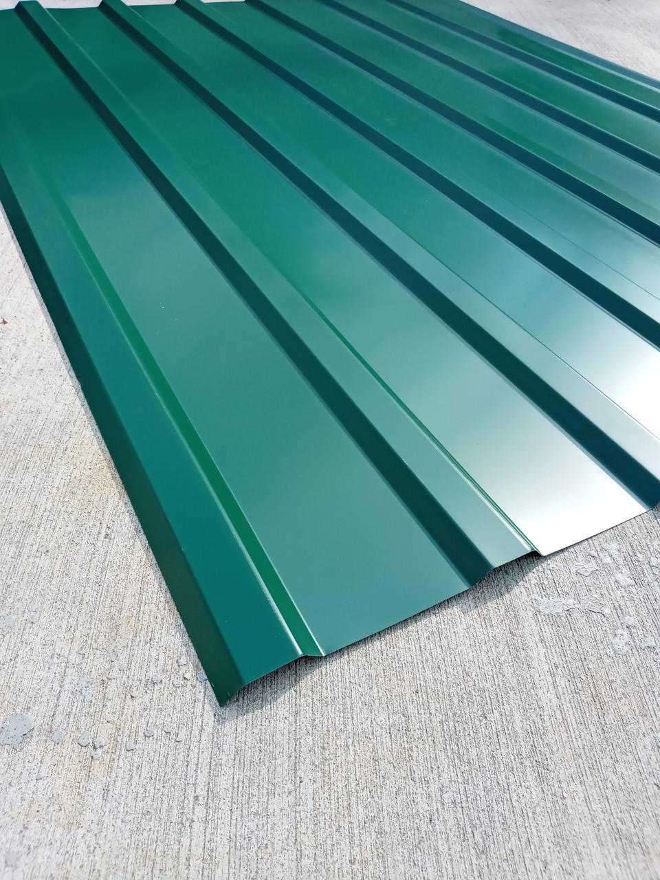 Профнастил  для Кровли зеленый ПК-20, 0,30 мм; высота 1.5 метра ширина 1,16 м