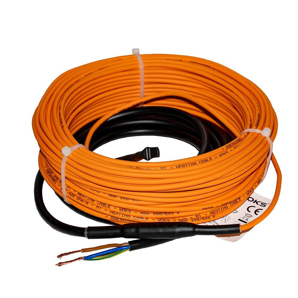 Двухжильный кабель WOKS 18 - 220 Вт, 12 метров