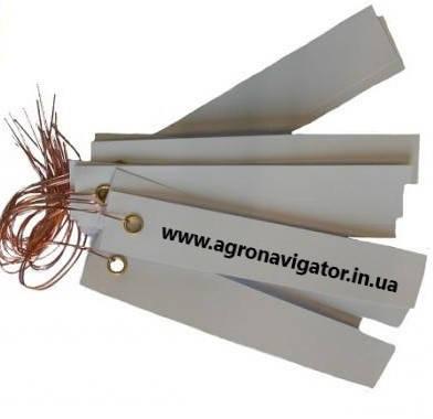 Этикетки на оцинкованной проволоке ,белая 250 шт. (Германия) 3х10 см, фото 2