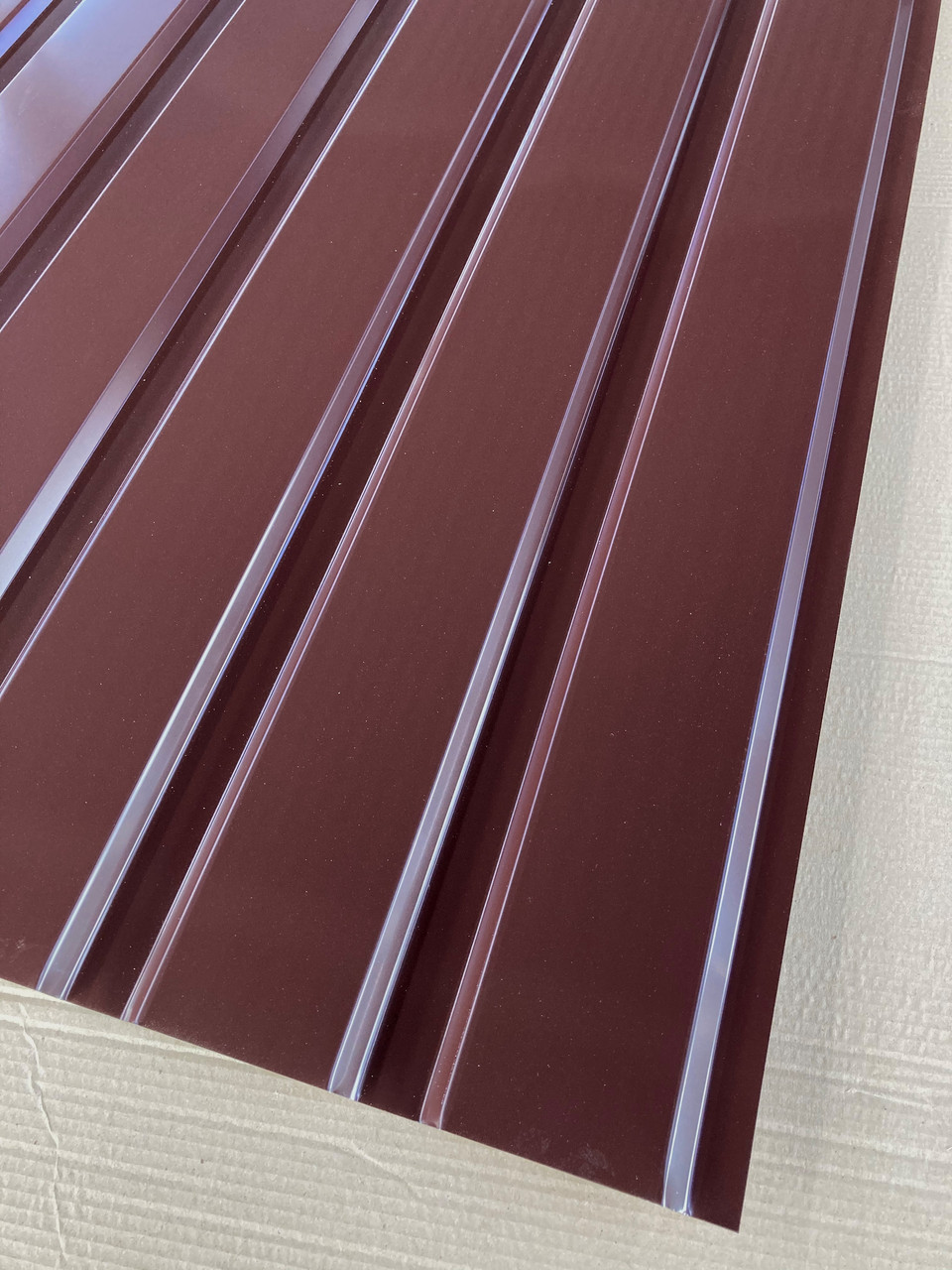 Профнастил для забора шоколад ПС-20, 0,45 мм; высота 2 метра ширина 1,16 м