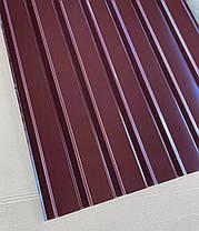 Профнастил для забора шоколад ПС-20, 0,45 мм; высота 2 метра ширина 1,16 м, фото 2