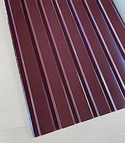 Профнастил для забора шоколад ПС-20, 0,45 мм; высота 2 метра ширина 1,16 м, фото 3