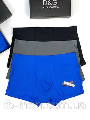 Трусы боксеры мужские Dolce Gabbana набор   Мужское белье Дольче Габбана в коробке  Мужские трусы-шорты Дольче