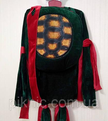 Костюм Ниндзя 7,8,9 лет. Детский новогодний костюм для мальчиков Черепашка Ниндзя 128 134 140см 344, фото 2
