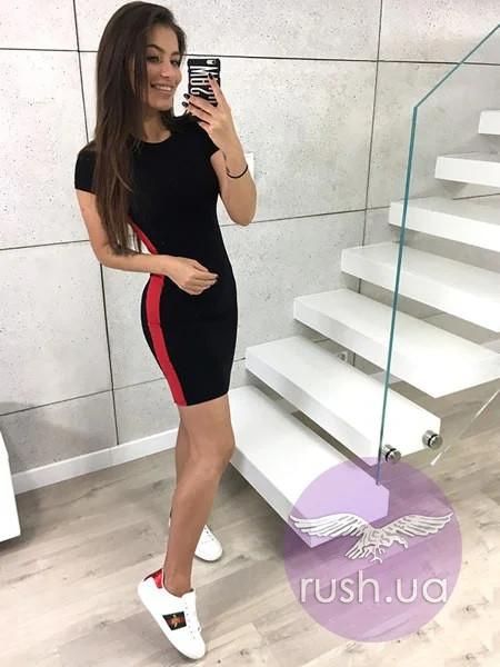 летнее платье с лампасами спортивное платье