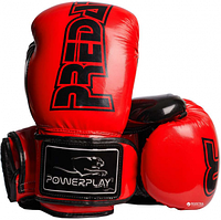 Боксерські рукавиці PowerPlay 3017 Червоні карбон SKL24