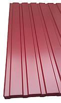 Профнастил  для забора цвет: Вишня ПС-20, 0,4-0,45 мм; высота 1.5 метра ширина 1,16 м, фото 3
