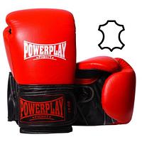 Боксерські рукавиці PowerPlay 3015 Червоні, натуральна шкіра SKL24