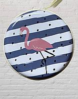 Чехол, футляр органайзер для наушников, украшений Розовый фламинго