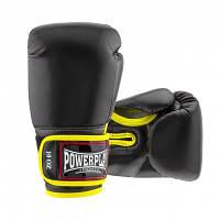 Боксерські рукавиці PowerPlay чорні 12 унцій 3074 SKL24-238276