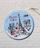 Чехол, футляр органайзер для наушников, украшений Париж