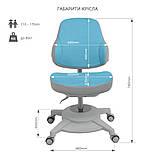 Комплект парта FunDesk Colore Grey + эргономичное кресло FunDesk Agosto Blue, фото 9