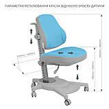 Комплект парта FunDesk Colore Grey + эргономичное кресло FunDesk Agosto Blue, фото 10