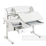 Комплект для школьника стол-трансформер Sognare Grey + ортопедическое кресло FunDesk Contento Green, фото 3