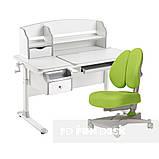 Комплект для школьника стол-трансформер Sognare Grey + ортопедическое кресло FunDesk Contento Green, фото 4