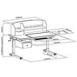 Комплект для школьника стол-трансформер Sognare Grey + ортопедическое кресло FunDesk Contento Green, фото 8