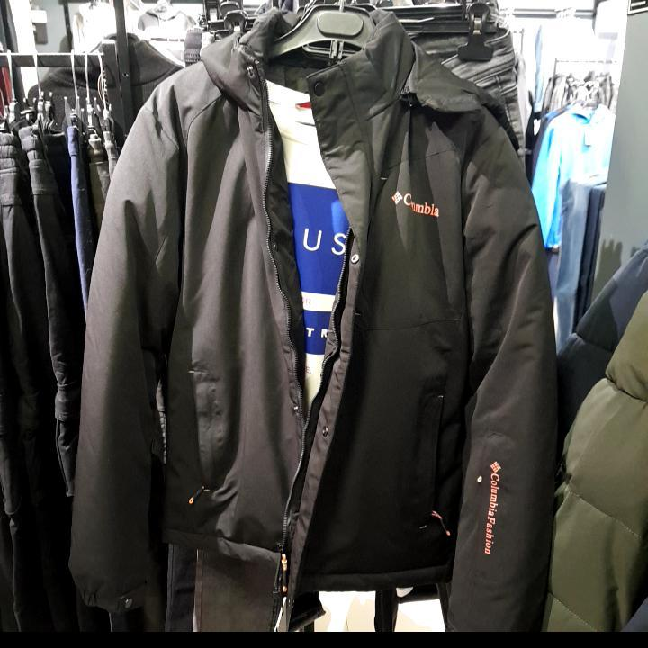 Куртки Зима бренд Colambia Мужской Чорний 85% коттон 15%полиэстер арт.55259 4-XL(р)